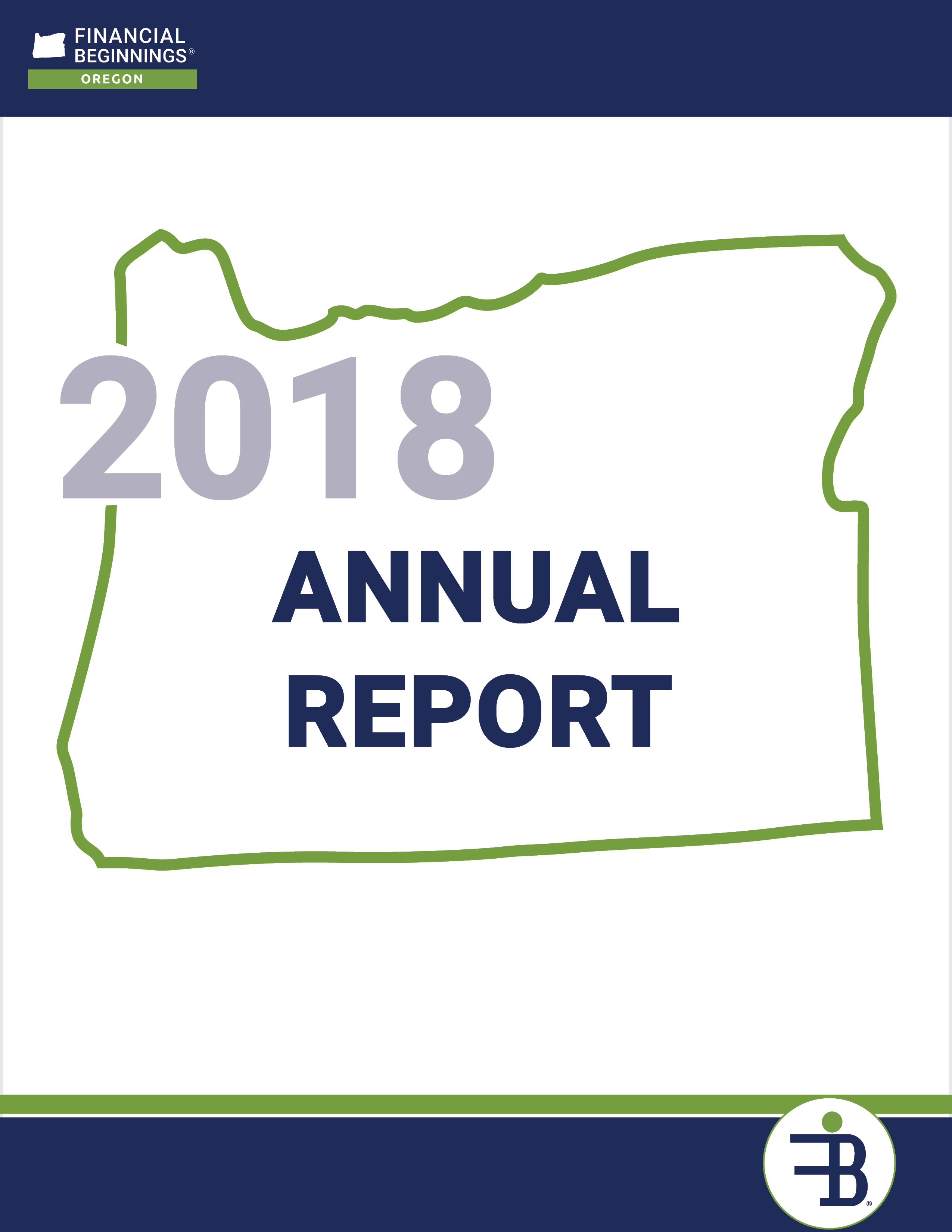 Financial Beginnings Oregon 2018 Annual Report
